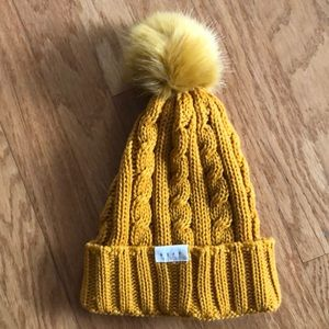NEFF MUSTARD YELLOW POM BEANIE WINTER HAT